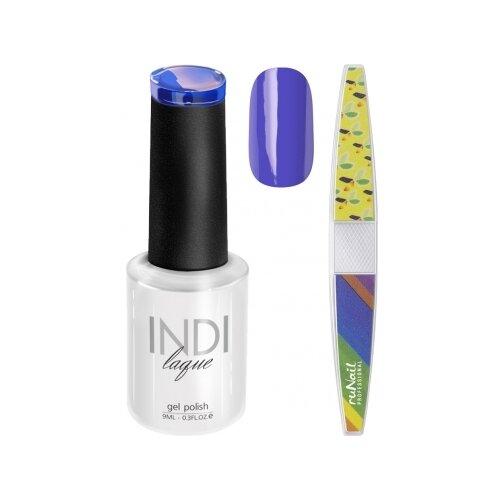 Набор для маникюра Runail пилка для ногтей и гель-лак INDI laque, оттенок 3530 набор для нейл арта пилка для ногтей runail professional гель лак indi laque тон 3708 9 мл