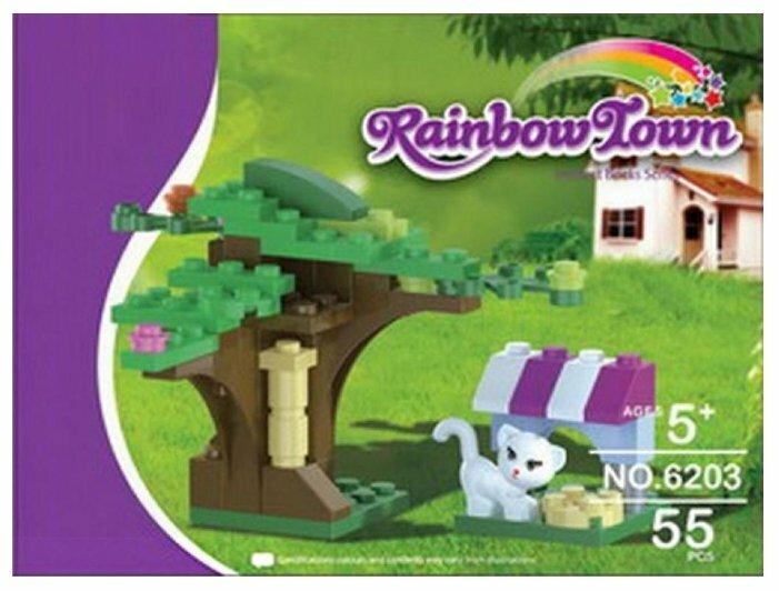 Конструктор DREAMLOCK Rainbow Town 6203 Озорная кошечка