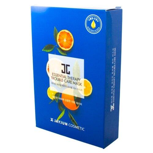 JAYJUN COSMETIC Тканевая маска Essential Therapy Trouble-Care, 25 мл, 10 шт. jayjun cosmetic тканевая маска purple fragrance на основе растительных экстрактов 250 мл 10 шт