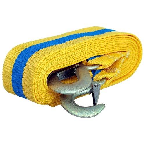 Ленточный буксировочный трос GOODYEAR GY004001, 5 метров (5 т) желтый/голубой