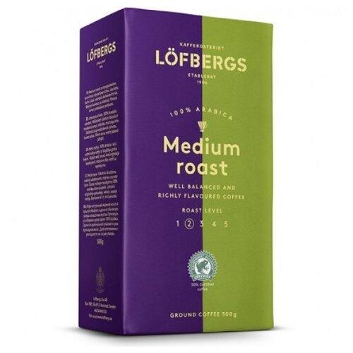 Кофе молотый Lofbergs Medium Roast, 500 г кофе молотый lofbergs medium roast in cup 250 г