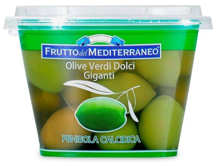 Madama Oliva Оливки зеленые гигантские сладкие с косточкой, 250 г