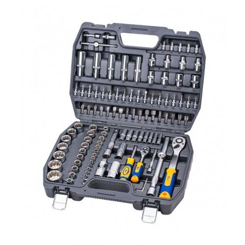 Набор инструментов KRAFT (107 предм.) KT 700869 серый/серебристый набор инструментов kraft professional с сумкой 23 предметов
