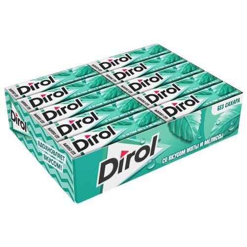 Жевательная резинка Dirol Cadbury Мята и мелисса без сахара 30 шт