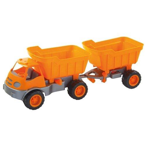 Купить Грузовик ZEBRATOYS с прицепом Active в коробке (15-10172) 53 см оранжевый, Машинки и техника