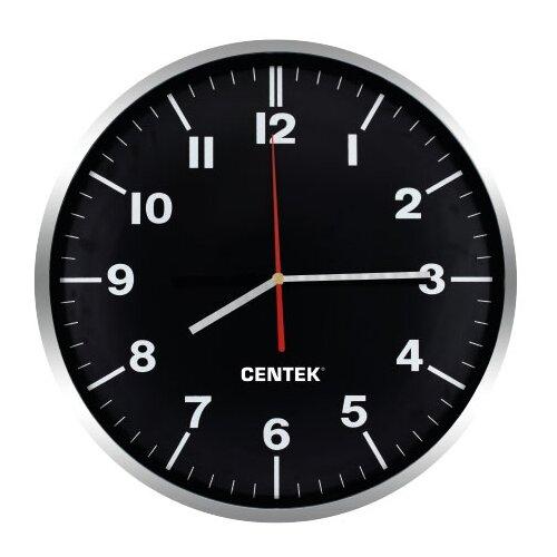 Часы настенные кварцевые CENTEK CT-7100 black