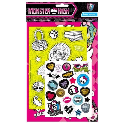 Купить РОСМЭН Раскраска и наклейки. Monster High., Раскраски
