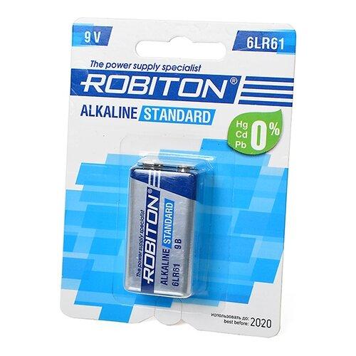 Купить Батарейка ROBITON Alkaline Standart 6LR61 Крона 1 шт блистер