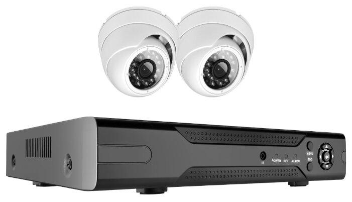 Комплект видеонаблюдения Ginzzu HK-424D 2 камеры