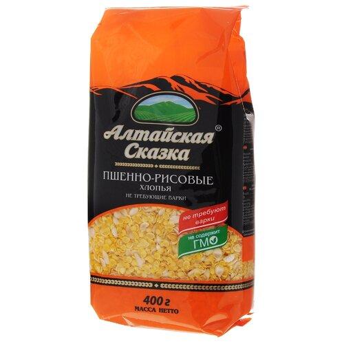 алтайская сказка смесь круп гречка рис в пакетах для варки 400 г 5х80 г Алтайская сказка Хлопья пшенно-рисовые, 400 г