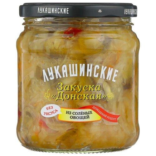 Закуска донская из соленых овощей ЛУКАШИНСКИЕ стеклянная банка 450 г