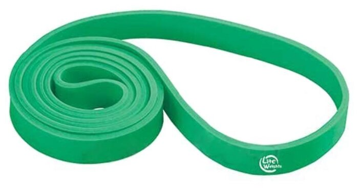 Петля тренировочная многофункциональная LITE WEIGHTS 208*2,1*0,45см 0825LW (25кг, зеленая)