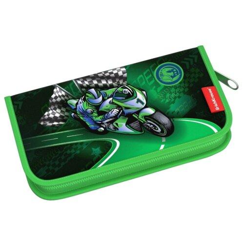 ErichKrause Пенал-книжка Motorbike с наполнением (44951) зеленый