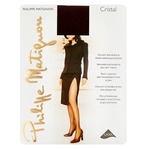 Колготки Philippe Matignon Cristal 30 den, размер 5-MAXI-XL, cappuccio (коричневый) колготки philippe matignon cristal 30 den размер 5 maxi xl glace бежевый