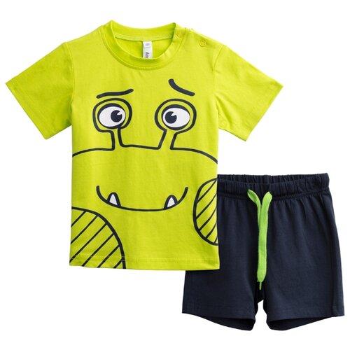 Пижама playToday размер 92, темно-синий/зеленыйДомашняя одежда<br>