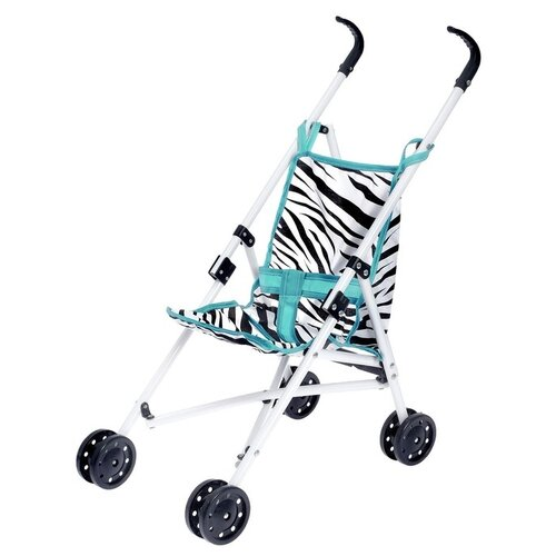Прогулочная коляска S+S Toys Like in life 200100751 мятный/зебра