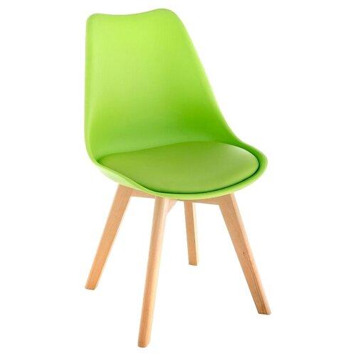 Стул Woodville Bonus, дерево/искусственная кожа, цвет: зеленый
