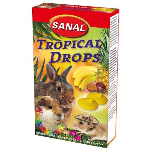 Лакомство для кроликов, грызунов SANAL Tropical Drops с тропическими фруктами 45 г