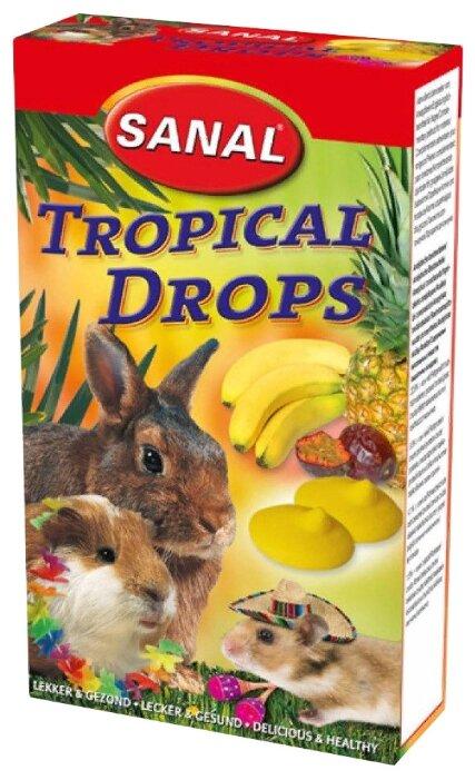 Лакомство для кроликов, грызунов SANAL Tropical Drops с тропическими фруктами
