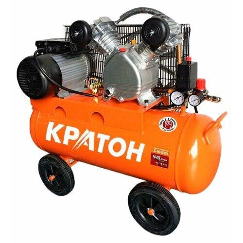 Компрессор масляный Кратон AC-440-50-BDV, 50 л, 2.2 кВт компрессор масляный кратон ac 360 100 ddv 100 л 2 2 квт