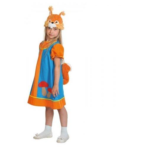 Купить Костюм КарнавалOFF Сказочный теремок Белочка Умелочка (8019), оранжевый/голубой, размер 98-128, Карнавальные костюмы