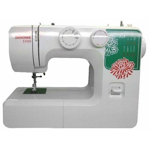 Швейная машина Janome 5500, бело-зеленый