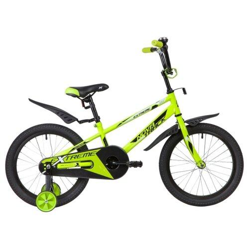 Детский велосипед Novatrack Extreme 18 (2019) green (требует финальной сборки) novatrack extreme 24 черный