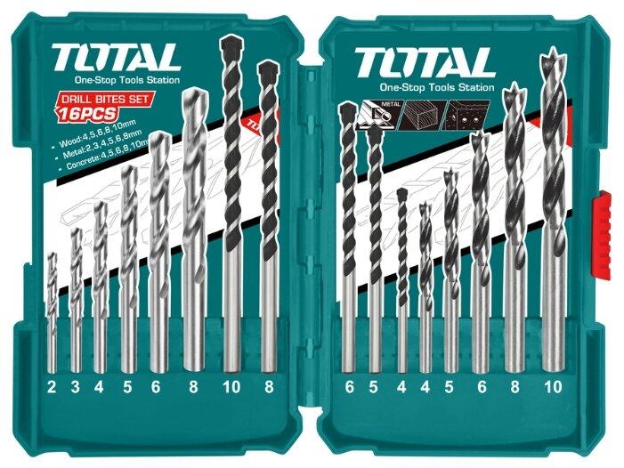 Набор сверл Total TACSD6165, 16 шт.