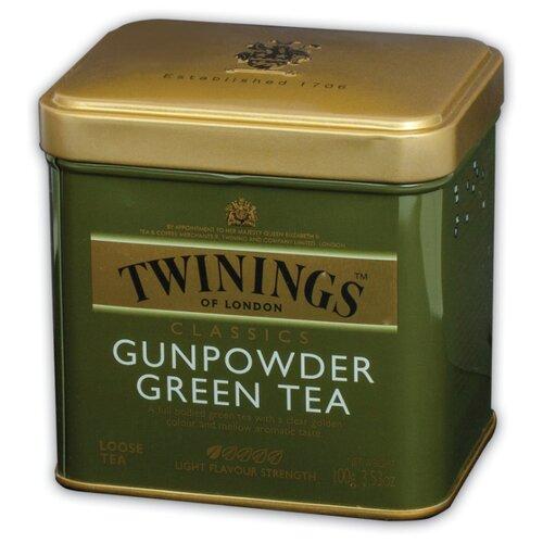 Чай зеленый Twinings Gunpowder листовой, 100 г чай листовой первая чайная компания хуа чжу ча с жасмином зеленый 100 г