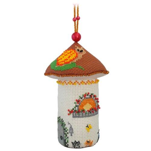 ZENGANA Набор для вышивания бисером и нитками Домик-подберезовик 8 х 8 х 13 см (М-049)