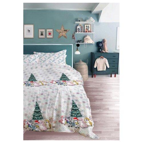 Постельное белье 1.5-спальное Seta Smillo Rony поплин, 50 х 70 см белый постельное белье семейное seta seta mp002xu0ea2s