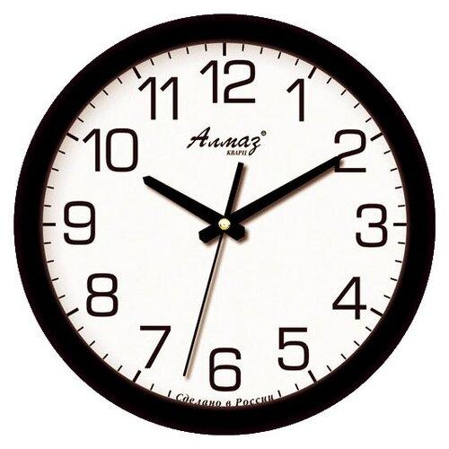Часы настенные кварцевые Алмаз B91 черный/белый часы настенные кварцевые алмаз h01 белый черный