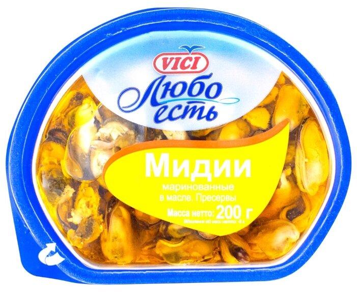 Vici Мидии маринованные Любо есть в масле