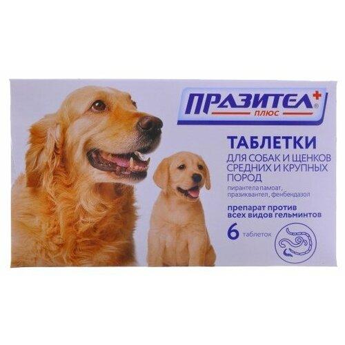 Фото - СКиФФ Празител плюс таблетки для собак и щенков средних и крупных пород 6 скифф празител таблетки для кошек