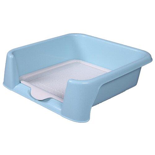 Туалет для собак Шурум-бурум 2КУХ00004 42х42х15 см голубой/белый