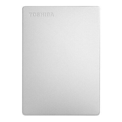Внешний жесткий диск Toshiba Canvio Slim 1TB серебристыйВнешние жесткие диски и SSD<br>