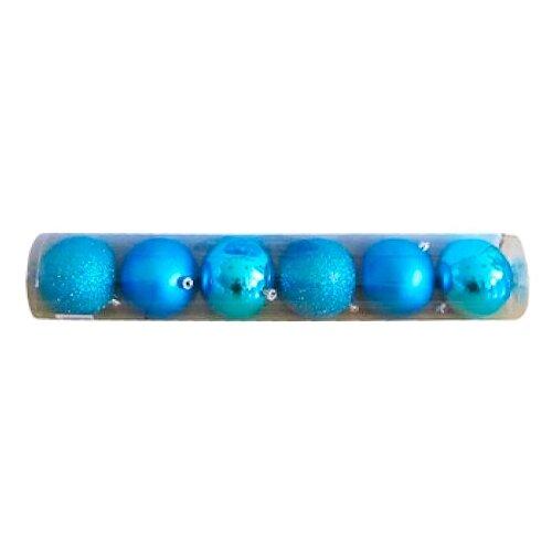Набор шаров SNOWMEN Е93123, голубой, 6 шт. набор шаров snowmen ек0509 золотой 6 шт