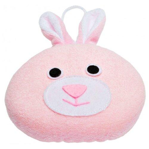 Губка ROXY-KIDS Rabbit с махровым покрытием розовый