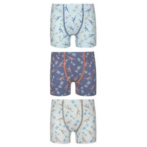 Купить Трусы BAYKAR 3 шт., размер 158/164, молочный/голубой/синий, Белье и пляжная мода