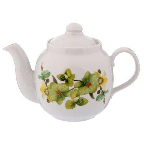 Дулёвский фарфор Заварочный чайник Янтарь 700 мл орхидея зеленая