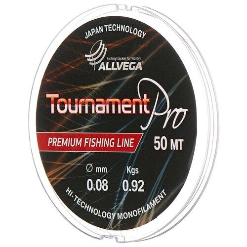 Монофильная леска ALLVEGA Tournament Pro прозрачный 0.08 мм 50 м 0.92 кг
