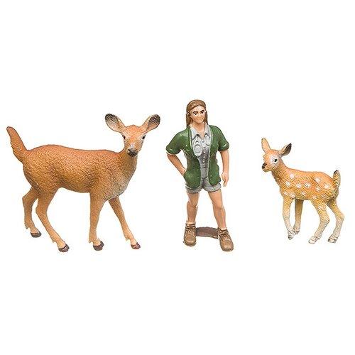 Купить Игровой набор Yako Мир вокруг нас: Девушка с оленями Н93731, Игровые наборы и фигурки