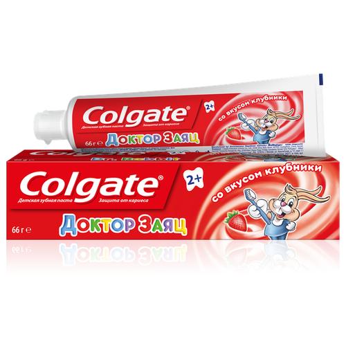 Зубная паста Colgate Доктор Заяц со вкусом клубники 2+, 50 мл