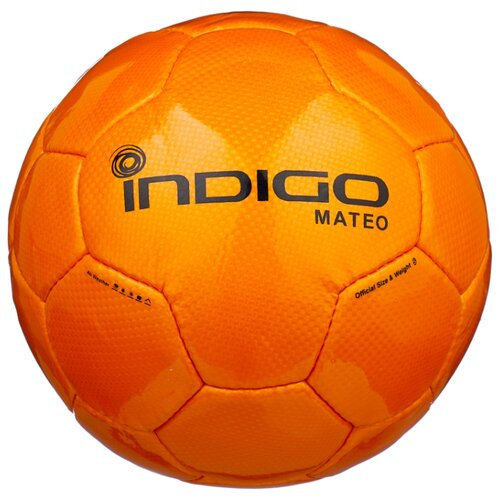 Футбольный мяч Indigo MATEO N004 оранжевый 5 коляска 3 в 1 indigo indigo 18 special f sp 12 белая кожа