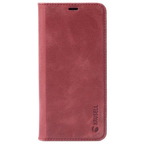 Чехол Krusell Sunne 2 Card FolioWallet для Samsung Galaxy S9, кожаный красный