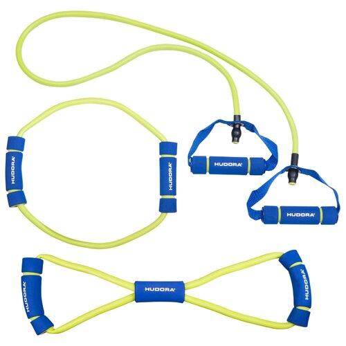 Эспандер универсальный 3 шт. HUDORA 76768 желтый/синий