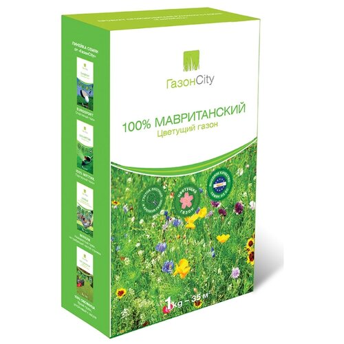 цена на Смесь семян ГазонCity 100% Мавританский цветущий газон, 1 кг