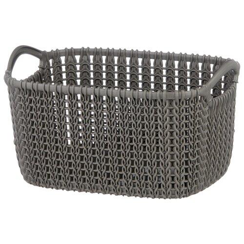 Фото - CURVER Корзина Knit XS 14x25x18см темно-коричневый корзина для хранения curver knit 3 л прямоугольная голубой