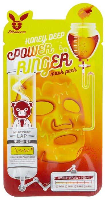 Elizavecca питательная тканевая маска с экстрактом мёда Honey Deep Power Ringer Mask Pack