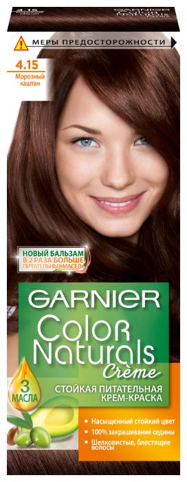 Купить GARNIER Color Naturals стойкая питательная крем-краска для волос, 4.15, Морозный Каштан по низкой цене с доставкой из Яндекс.Маркета (бывший Беру)